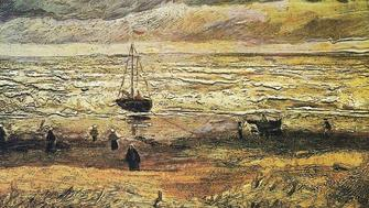 Vincent van Goghs View at the sea of Scheveningen 1882