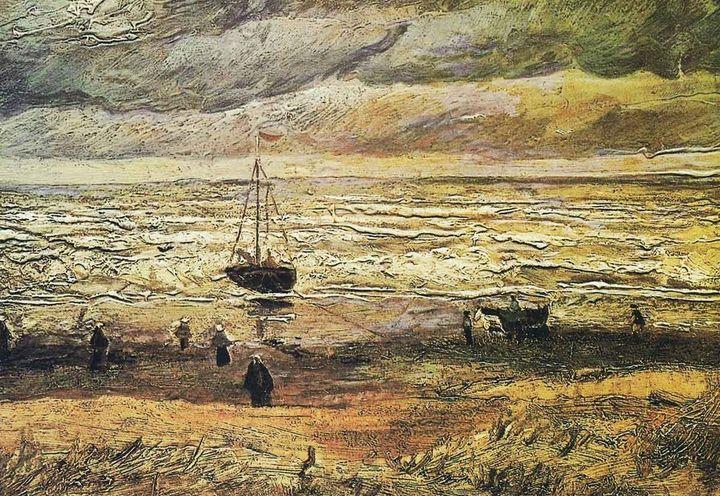 """Vincent Van Gogh's """"View at the sea of Scheveningen"""" (1882)"""