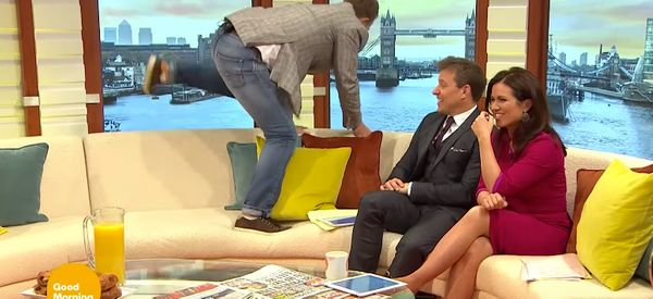 Bradley Walsh Puts In A Chaotic Appearance On 'Good Morning Britain'