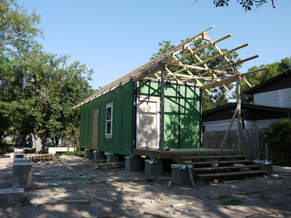 One of the RAPIDO homes for families whose homes are destroyed by natural disasters. The low-cost core unit's rubb