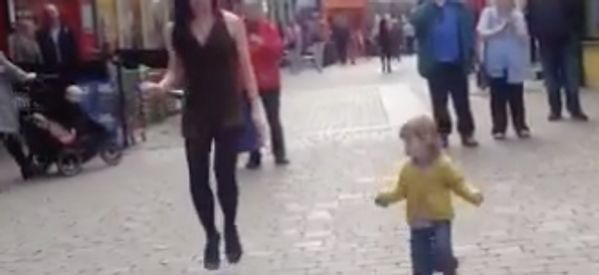 Toddler Imitates Irish Dancer For Adorable Street Performance Duet