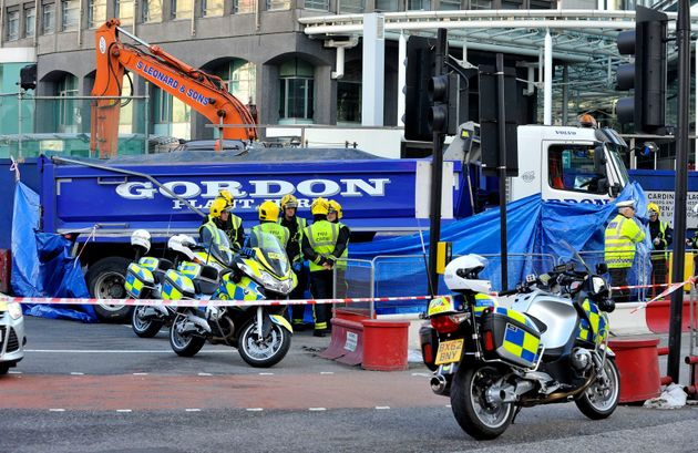 An accidenton Victoria Street after a female cyclist died after being hit by a tipper truck in...