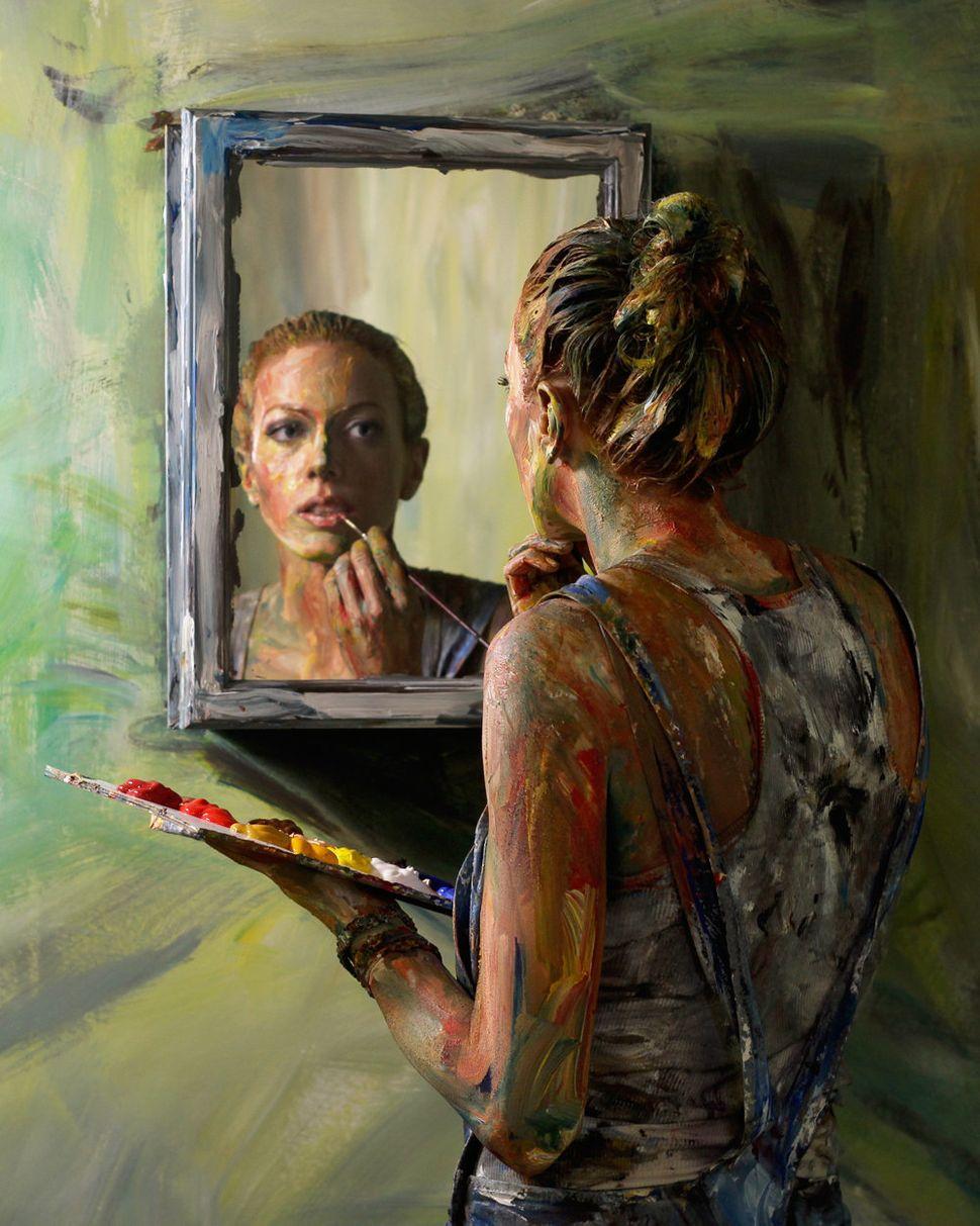 "Alexa Meade, ""Portrait 1"""