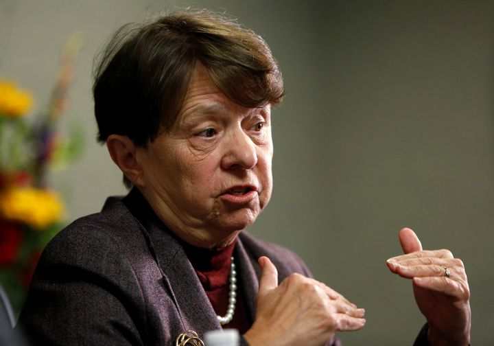 U.S. Securities and Exchange Commission Chair Mary Jo White speaks at the Reuters Financial Regulation Summit in Wa