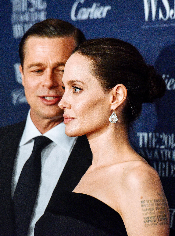 NEW YORK, NY - NOVEMBER 04:  Brad Pitt and Angelina Jolie attend the 2015 WSJ. Magazine Innovator Awards at Museum of Modern Art on November 4, 2015 in New York City.  (Photo by Grant Lamos IV/FilmMagic)