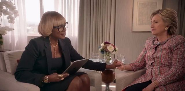 "Mary J. Blige sat down with Hillary Clinton for her new show, ""The 411."""