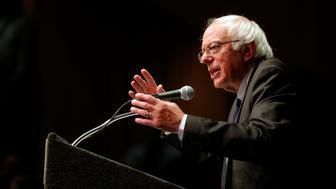 U.S. Democratic presidential candidate and U.S. Senator Bernie Sanders speaks during a campaign stop in Albany, New York, U.S., June 24, 2016.  REUTERS/Brian Snyder