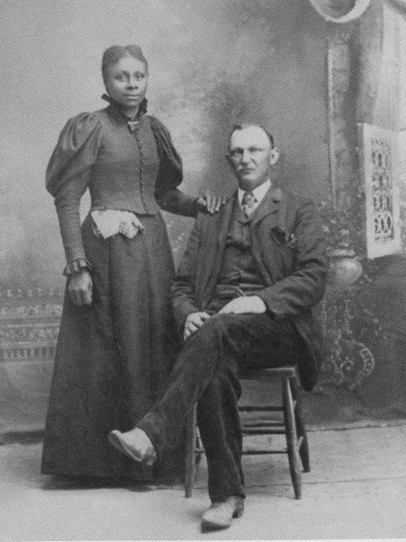 Early mixed race settlers and homesteaders in Nebraska.
