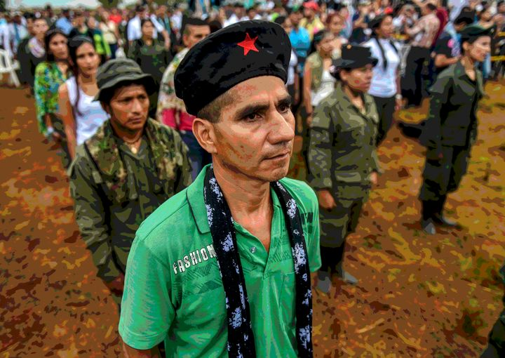 FARC members attend the opening ceremony of what leaders hope will be their last conference as a guerrilla army in the Yari P