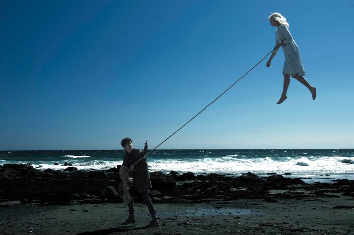 """Asa Butterfield and Ella Purnell star in a scene from """"Miss Peregrine's Home for Perculiar Children."""""""