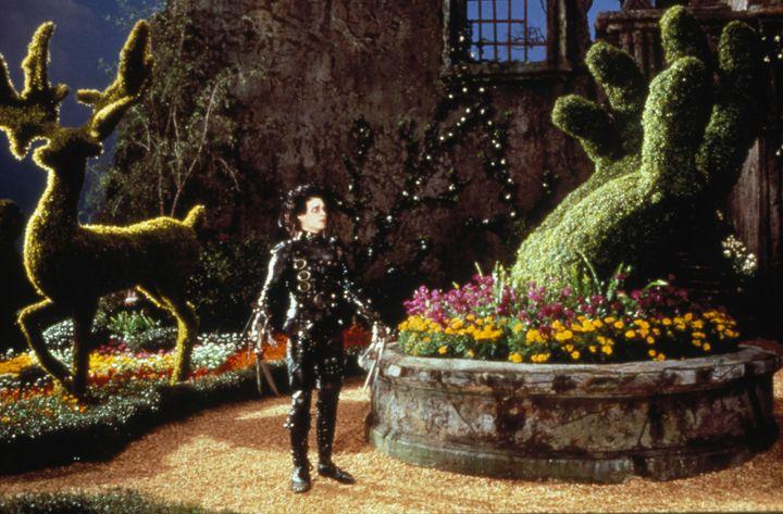 "Johnny Depp stars in a scene from ""Edward Scissorhands."""