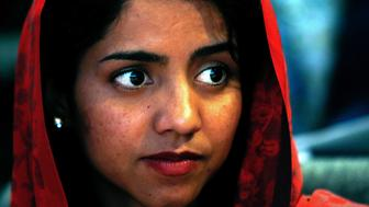 Afghan rapper Sonita Alizadeh waits before the screening of the documentary 'Sonita' at the International Documentary Filmfestival Amsterdam (IDFA) in Amsterdam on November 23, 2015. Sonita Alizadeh, 19, was just 10 years old when her parents first tried to sell her into marriage.  AFP PHOTO / ANP / BAS CZERWINSKI  ***NETHELRANDS OUT*** / AFP / ANP / BAS CZERWINSKI        (Photo credit should read BAS CZERWINSKI/AFP/Getty Images)