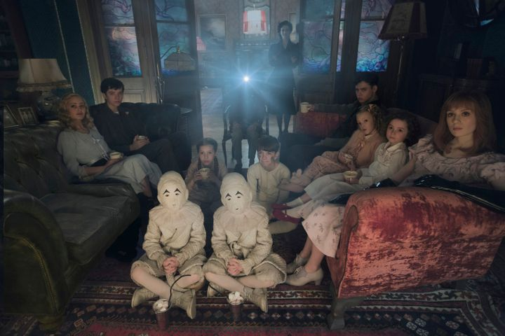 """Lots of people star in a scene from """"Miss Peregrine's Home for Peculiar Children."""""""