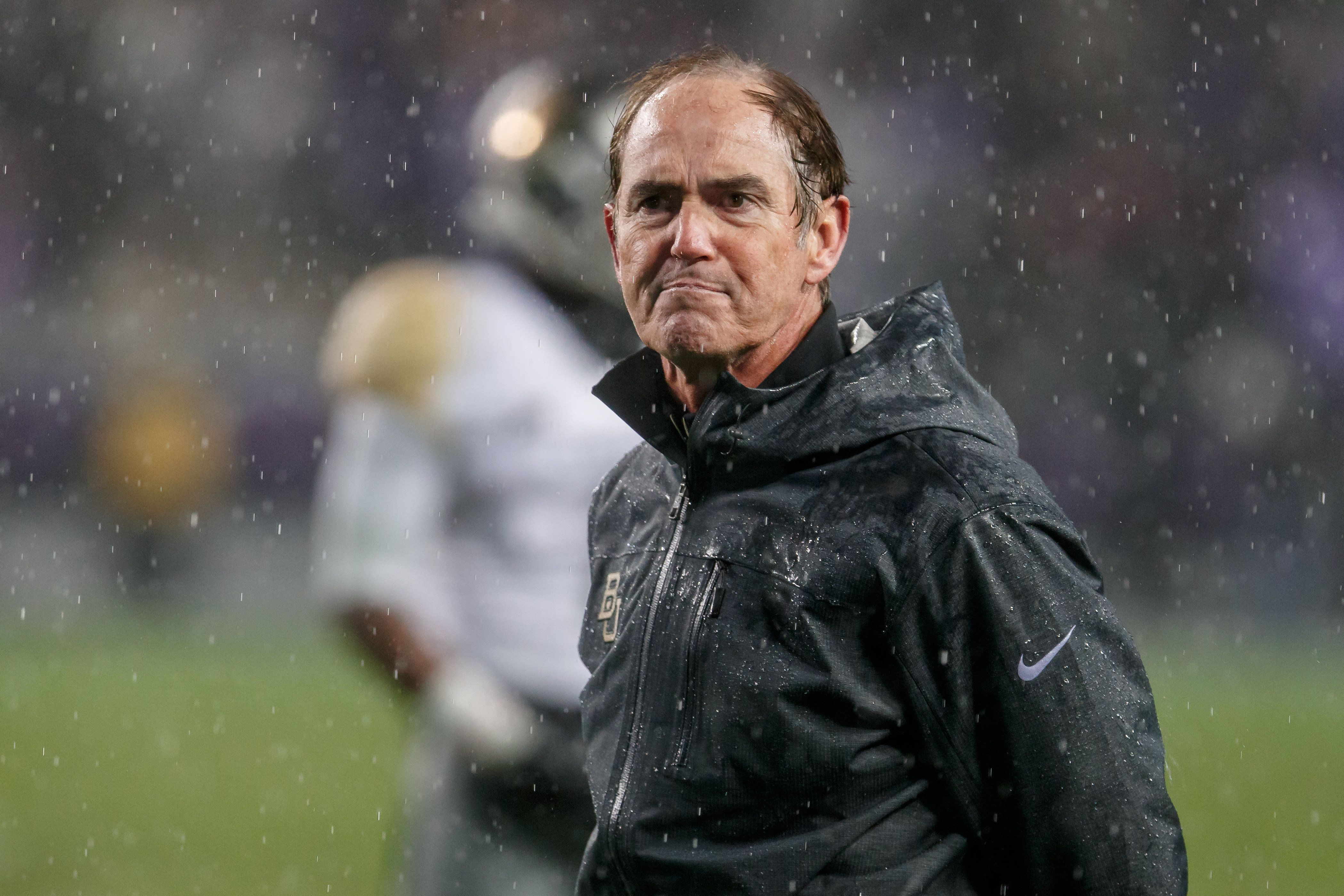 27 November 2015: Baylor Bears head coach Art Briles stares down a referee during the Big 12 college football game between the TCU Horned Frogs and the Baylor Bears at Amon G. Carter Stadium in Fort Worth, Texas. TCU won the game 28-21 in overtime. (Photo by Matthew Visinsky/Icon Sportswire) (Photo by Matthew Visinsky/Icon Sportswire/Corbis via Getty Images)