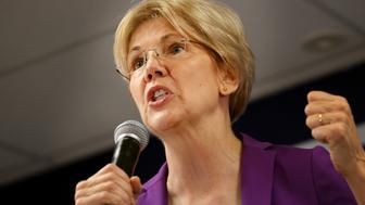 MANCHESTER, NH - SEPTEMBER 24: U.S. Senator Elizabeth Warren speaks at a Manchester 'New Hampshire Together' Canvass Launch event in Manchester, NH on Sept. 24, 2016. (Photo by Craig F. Walker/The Boston Globe via Getty Images)