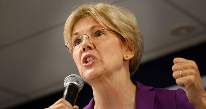 Elizabeth Warren tore into Donald Trump's attacks on Alicia Machado on Friday afternoon.