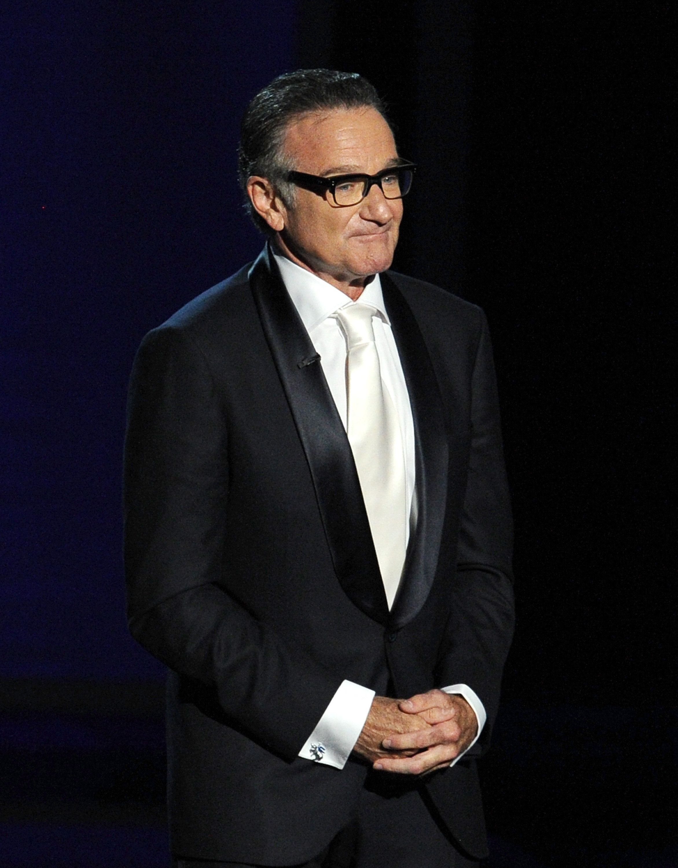 LOS ANGELES, CA - SEPTEMBER 22:  Actor Robin Williams speaks onstage during the 65th Annual Primetime Emmy Awards held at Nokia Theatre L.A. Live on September 22, 2013 in Los Angeles, California.  (Photo by Kevin Winter/Getty Images)