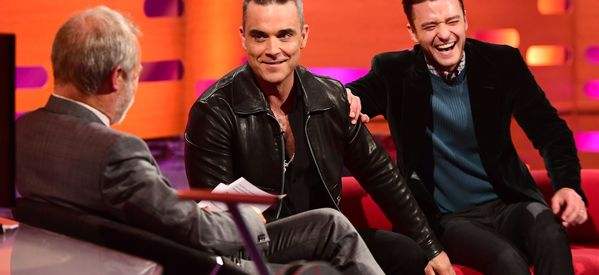 Robbie Williams Told A Sex Story On 'Graham Norton' And It Was Next-Level NSFW