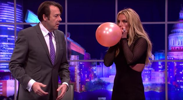 It's just Britney Spears, singing a Taylor Swift song after inhaling helium