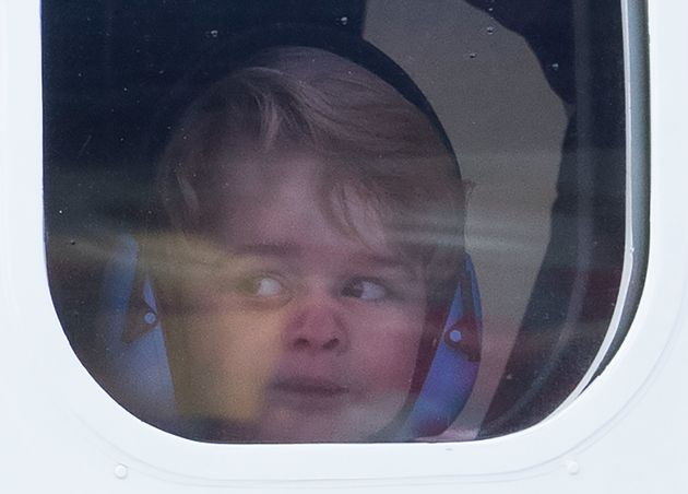 The adorable 3-year-old has wrapped up an eight-day trip to Canada with his parents and younger sister,