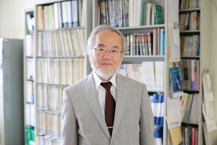 Yoshinori Ohsumi, a professor at the Tokyo Institute of Technology, won the Nobel Prize in Medicine on Monday.