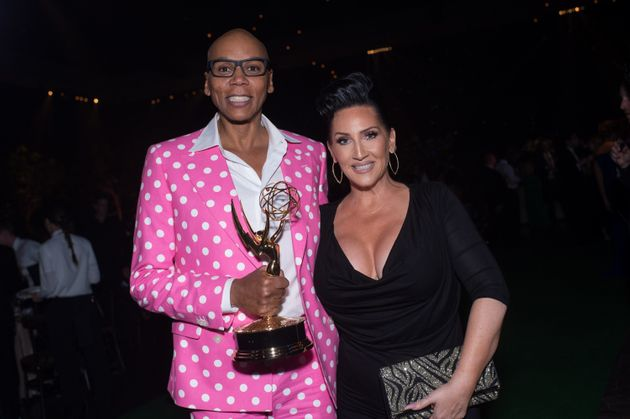 Ru and Michelle at the Creative Arts Emmy