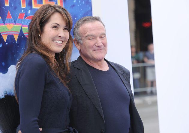 Susan Schneider and Robin Williams pictured in