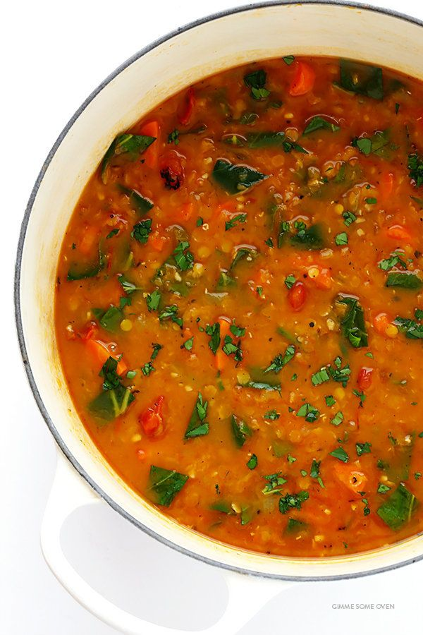 "<strong>Get the<a href=""http://www.gimmesomeoven.com/italian-lentil-soup-recipe/"" target=""_blank"">Italian Lentil Soup r"