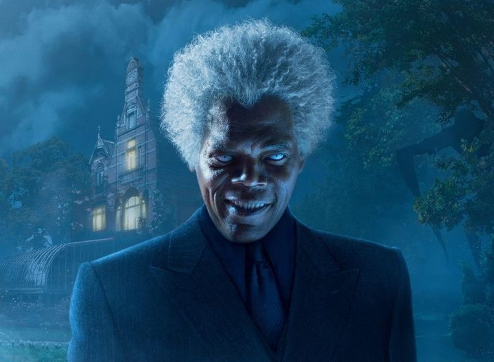 "Samuel L. Jackson as Barron in Tim Burton's adaptation of ""Miss Peregrine's Home for Peculiar Children."""