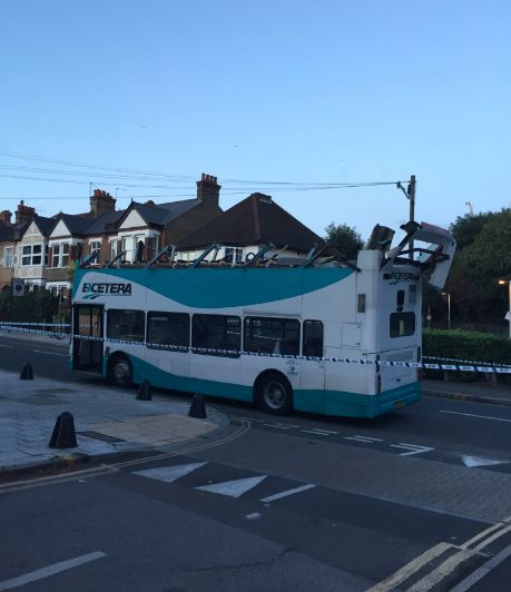 The rail replacement bus on St John's
