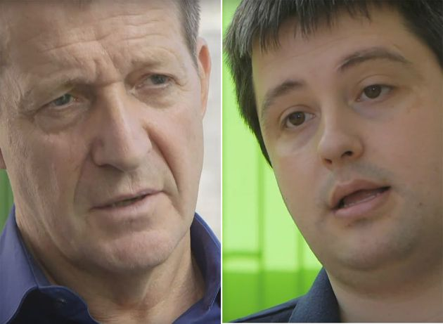 Alastair Campbell (left) talks to Mark about his life with