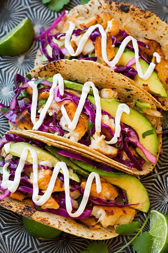 The best taco recipes on the planet huffpost for Fish taco red cabbage slaw