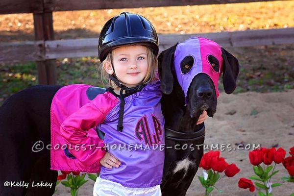 "Via <a href=""http://ideas.coolest-homemade-costumes.com/2014/11/02/cutest-race-horse-jockey-duo-costume-ever/"" target=""_blank"