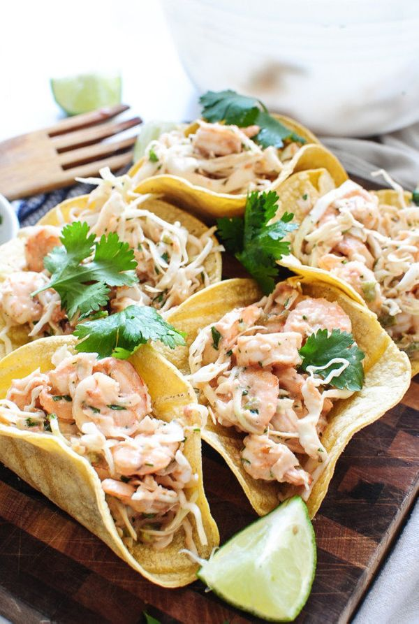 "<strong>Get the <a href=""http://bevcooks.com/2016/04/shrimp-cabbage-crunch-tacos/"" target=""_blank"">Shrimp Cabbage Crunch Taco"