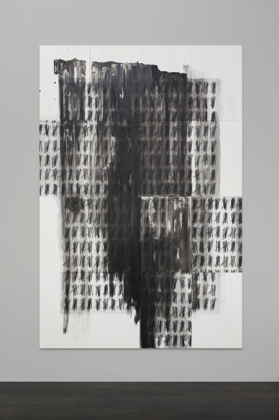 "Lorna Simpson, ""Enumerated,"" 2016. India ink, acrylic, and screenprint on Claybord"