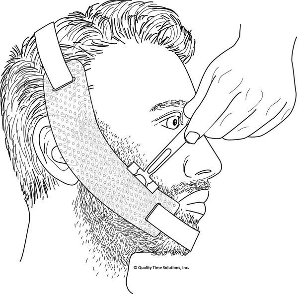 Astounding image in beard shaping template printable