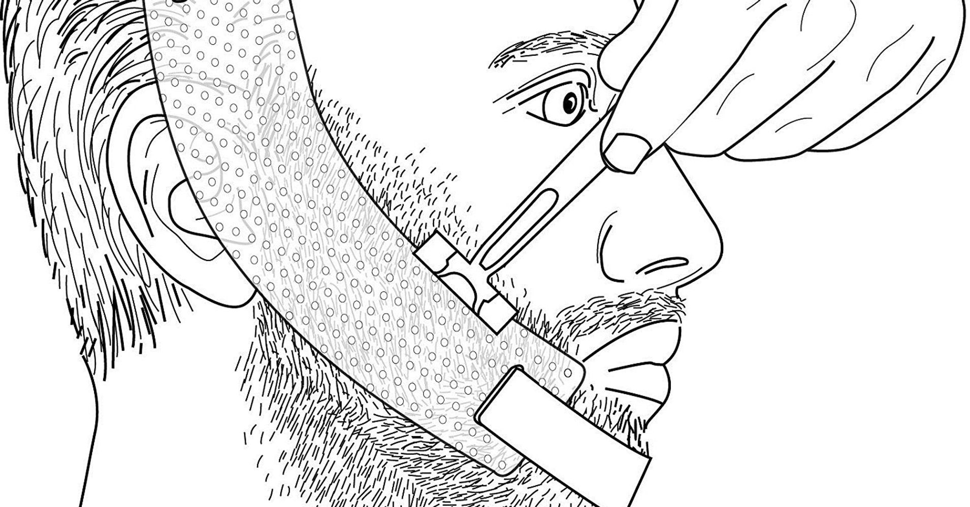 Impeccable image in beard shaping template printable