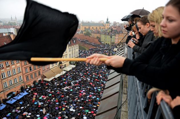 Women Go On Strike In Poland To Protest Proposed Anti-Abortion
