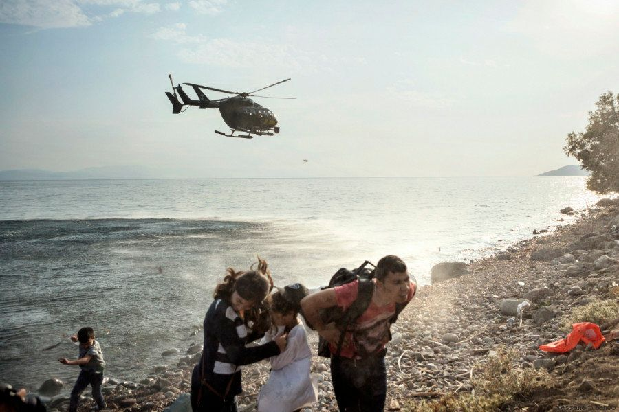 """Through my photographs I'm trying to show people what the refugee crisis is really like,""..."