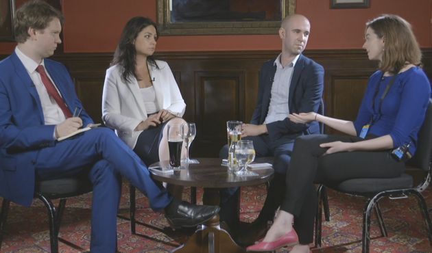 Hedi Allen (second left) with the HuffPost UK Politics
