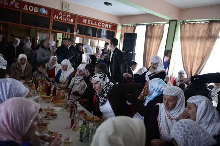 Bulgarian Muslims participate in a wedding reception in the village of Ribnovo, Blagoevgrad, Bulgaria on Jan. 5. Muslim