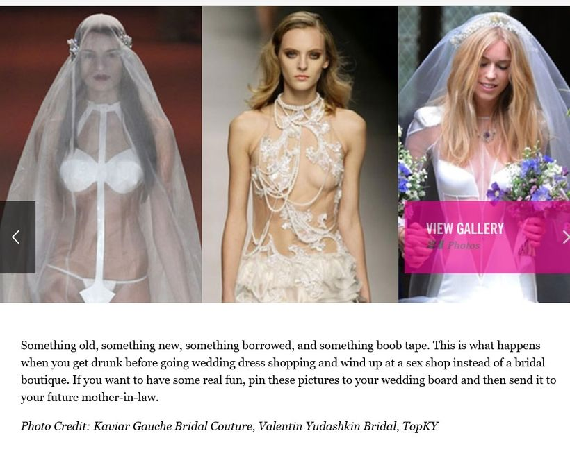 Drawing The Line Between Sexy And Slutty Wedding Gowns Huffpost
