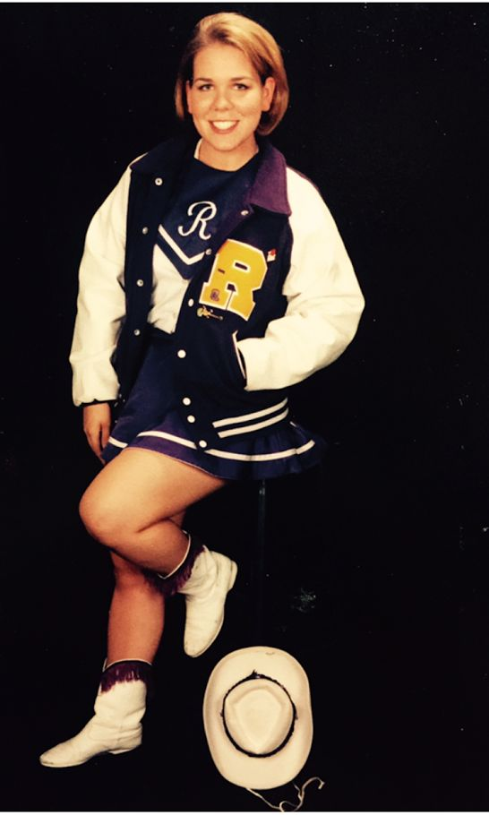"""Senior year of high school, wearing the drill team uniform I was instructed to order """"a size or two"""" too small."""