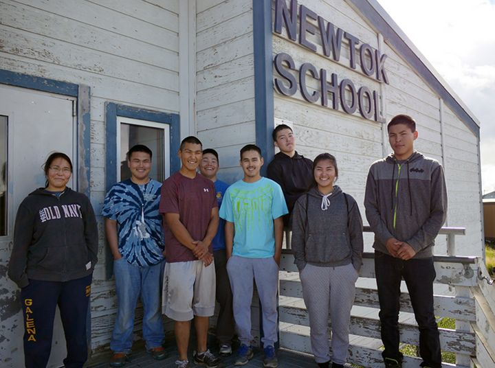 The class of 2016 could be one of the last to graduate from the Newtok School. (From left to right: TeddieAnn Tom, Byron