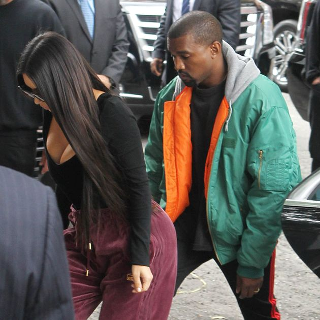 Kim and Kanye arrive at their New York