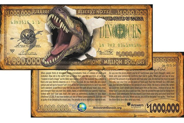 These fake $1 million bills warn of all the different things that could send you to Hell -- and one evangelical group wants you to give them out to trick-or-treaters on Halloween.