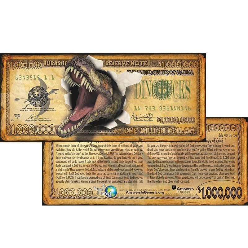 These fake $1 million bills warn of all the different things that could send you to Hell -- and one evangelical gro
