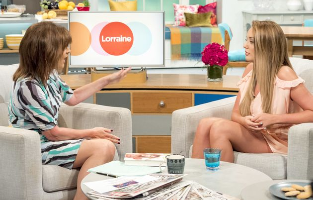 Charlotte previously hit out at Lorraine