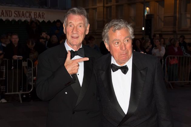 Michael Palin with Terry Jones in Cardiff at the