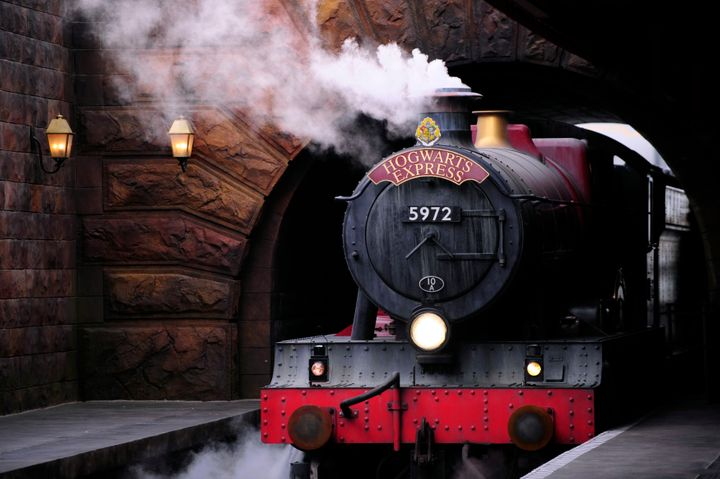 TheHogwarts Express train,which connects Universal Orlando park goers to Universal's Island of Adventure th
